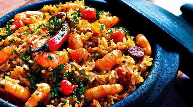 жаренный рис с креветками рецепт