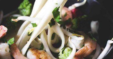 Рецепт рисовой лапши с курицей