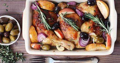 Курица с яблоками и маслинами рецепт