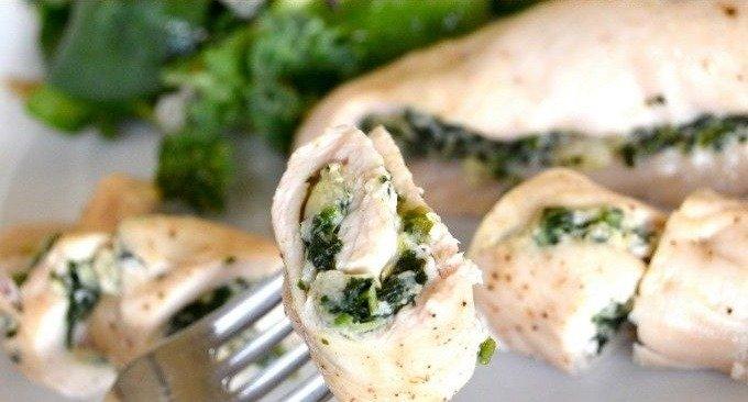 куриные рулетики с брокколи и сыром в духовке рецепт с фото