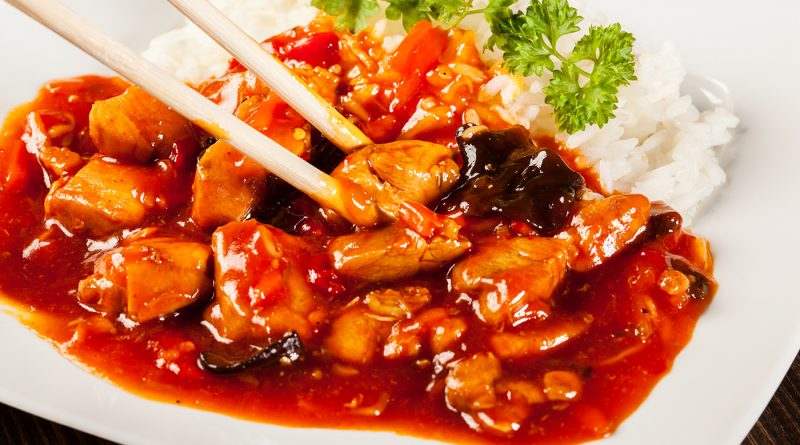 Курица по-шанхайски в остро-сладком соусе