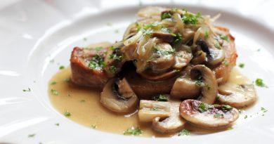 Отбивная из свинины с грибами рецепт