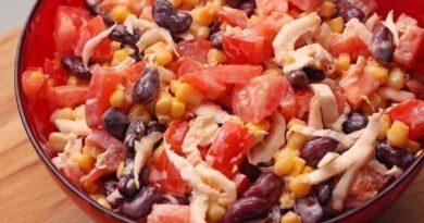 салат мексиканский с фасолью и кукурузой говядиной колбасой