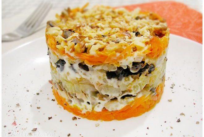 слоенный салат с майонезом рецепт