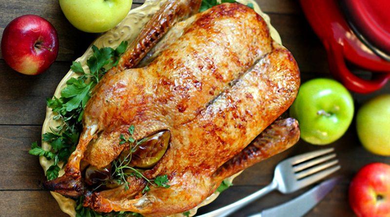 утка с яблоками в духовке рецепт
