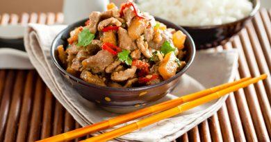 свинина по-тайски с овощами в кисло-сладком соусе рецепт