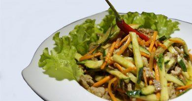 теплый салат с бараниной и овощами рецепт