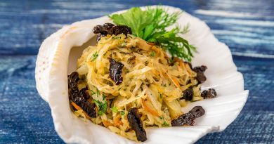 салат из капусты с черносливом и морковью рецепт