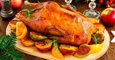 рождественский гусь с яблоками рецепт