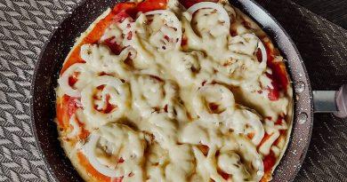 пицца на сковороде за 10 минут пошаговый рецепт