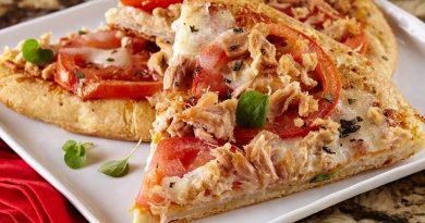 пицца с тунцом консервированным